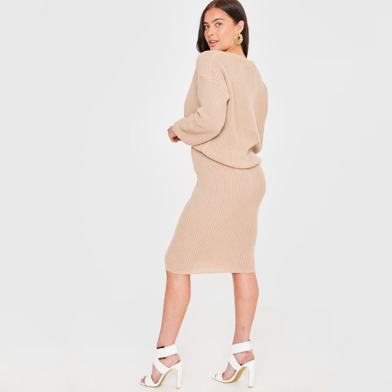 Long Sleeve Two Piece Party dress