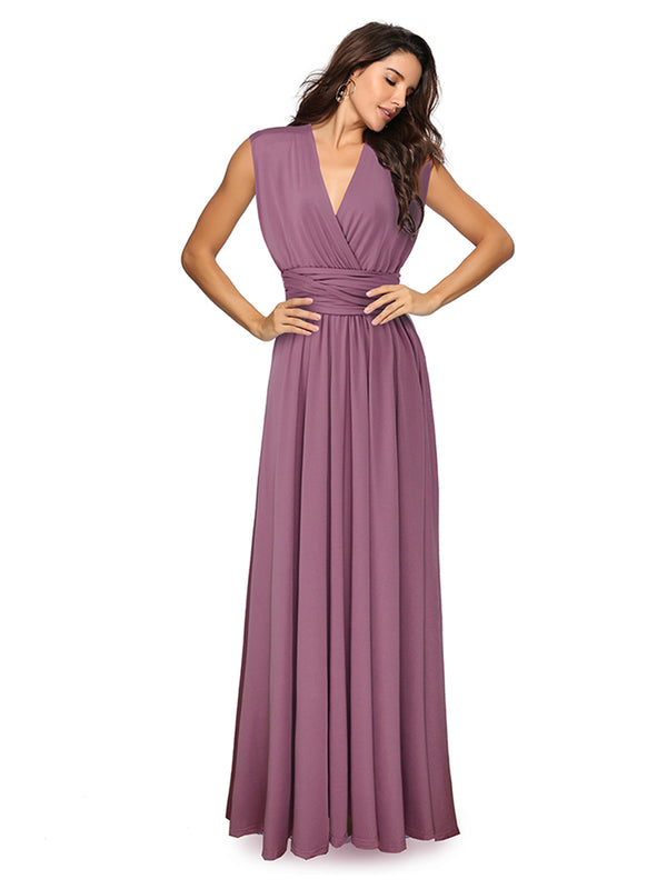 Sexy Women Multi-Way Wrap Boho Maxi Dress