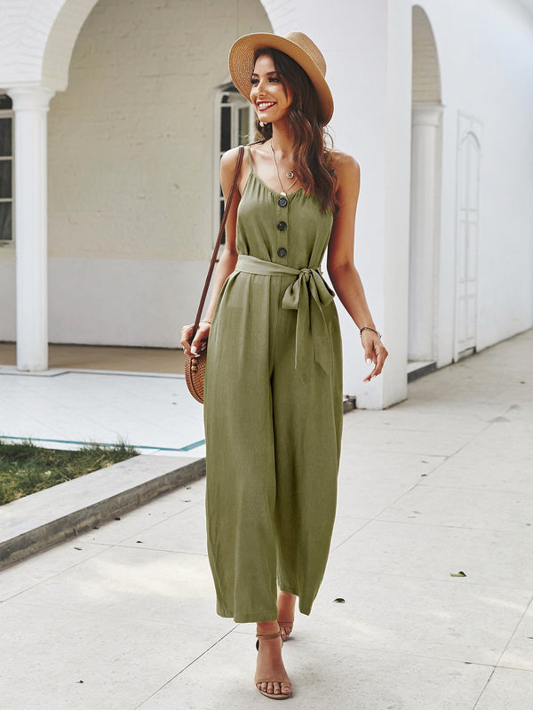 Wide Leg Jumpsuit Rompers
