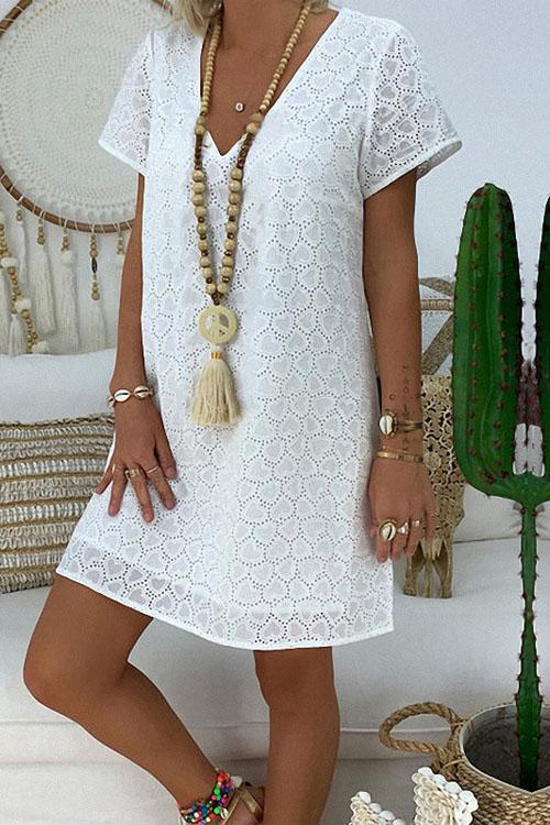 Peace and Love Casual Loose Dress