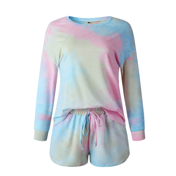 Tie Dye Printed Long Sleeve Set