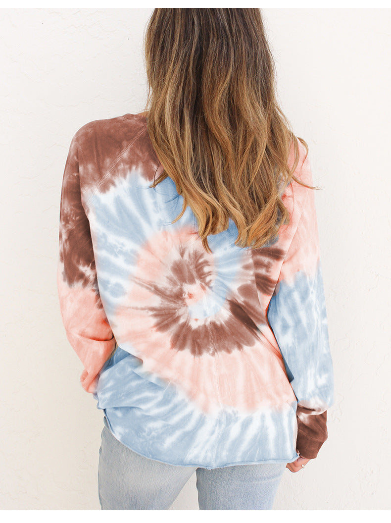 Tie Dye Long Sleeve Tops Women