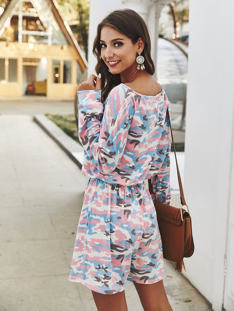 Tie Dye Long Sleeve Pajamas Set