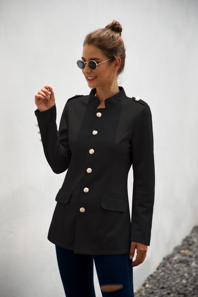 Long Sleeves Work Casual Buttons Blazer