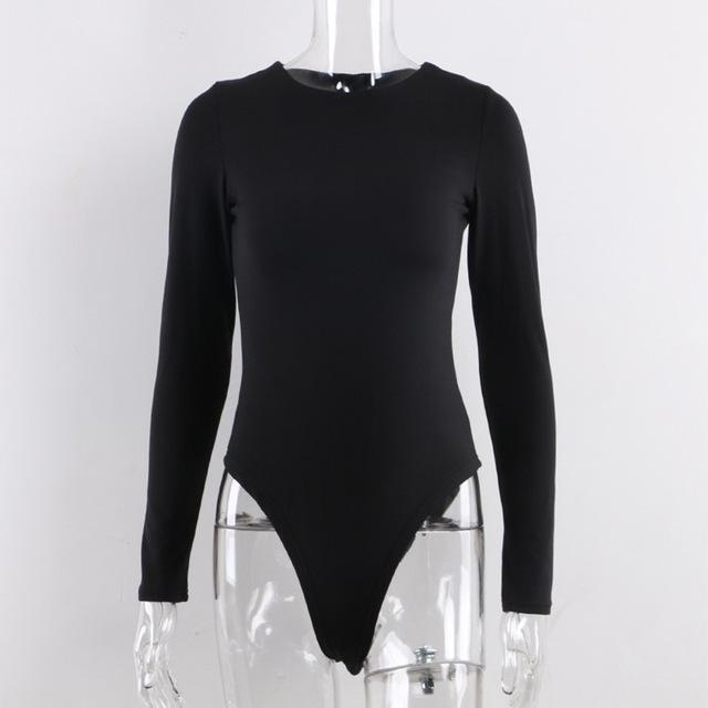Long Sleeve O Neck Bodysuit