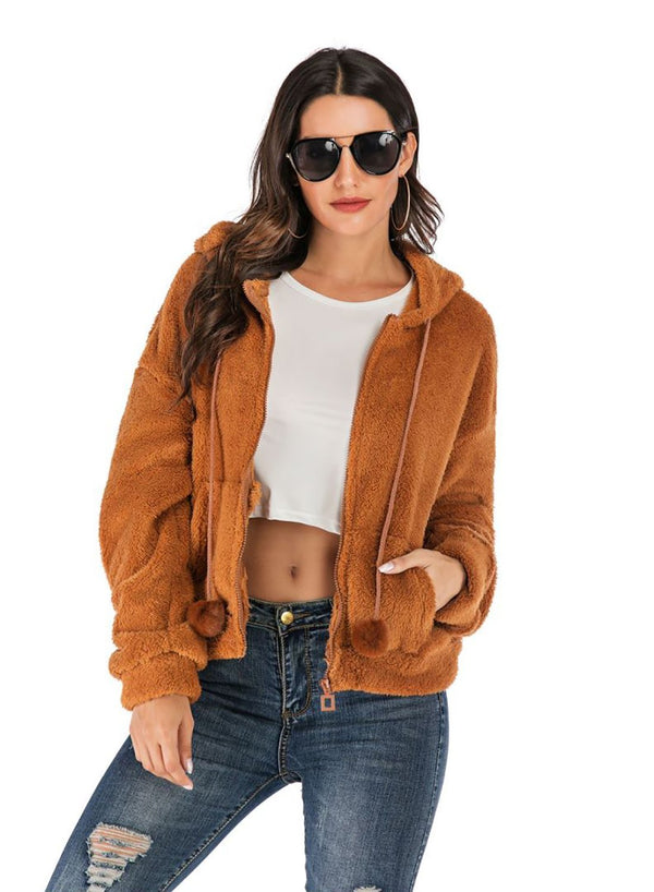 Women Casual Teddy Bear Coat