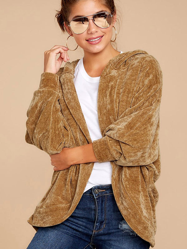 Fall Into This Caramel Hoodie Jacket - Landing Closet