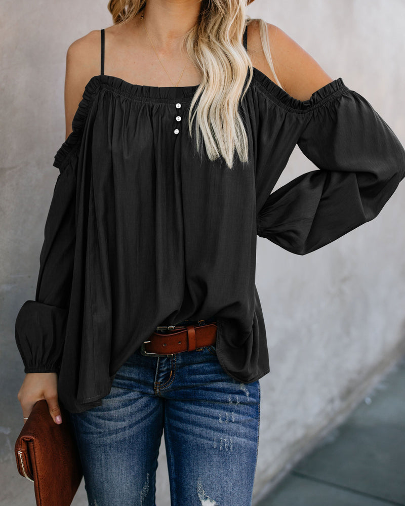 Lead Me On Off Shoulder Long Sleeves Top