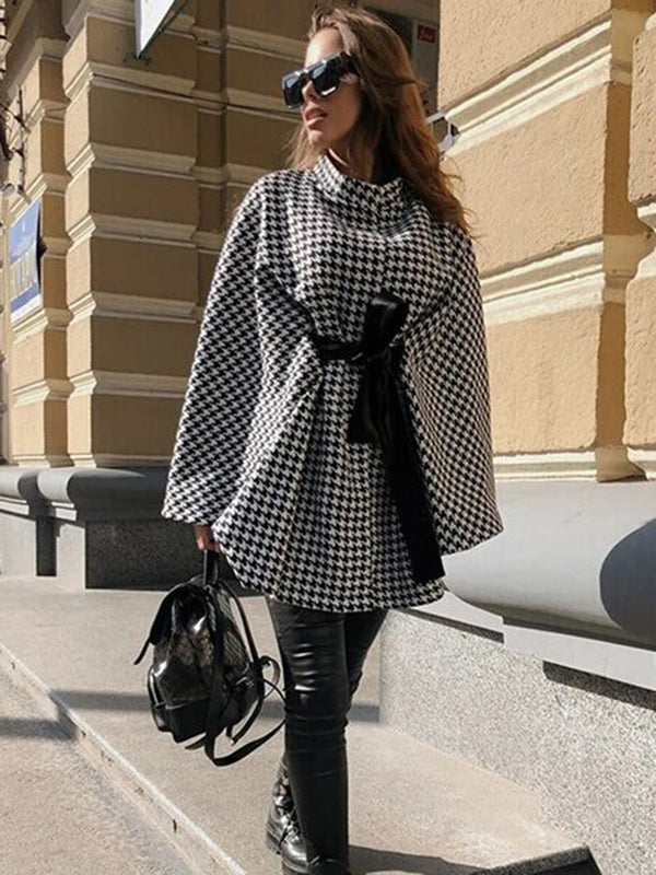 Wrap Long Sleeve Tie Front Loose Coat