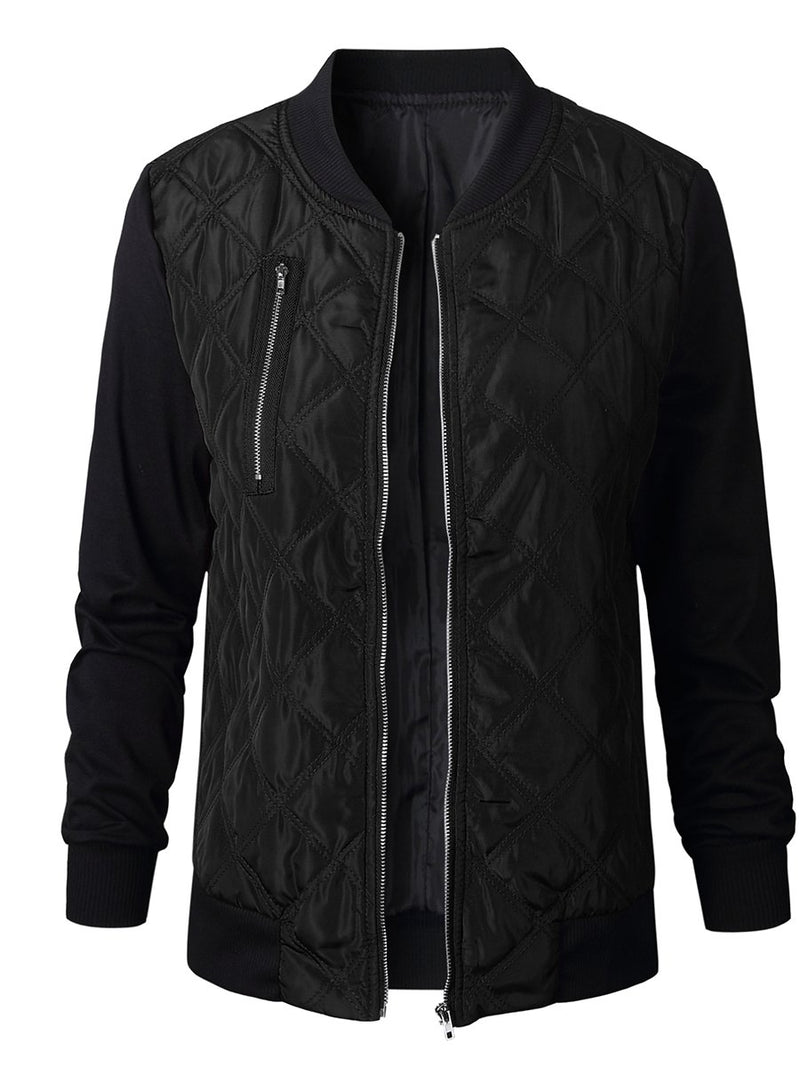 Women Solid Fashion Zipper Jacket