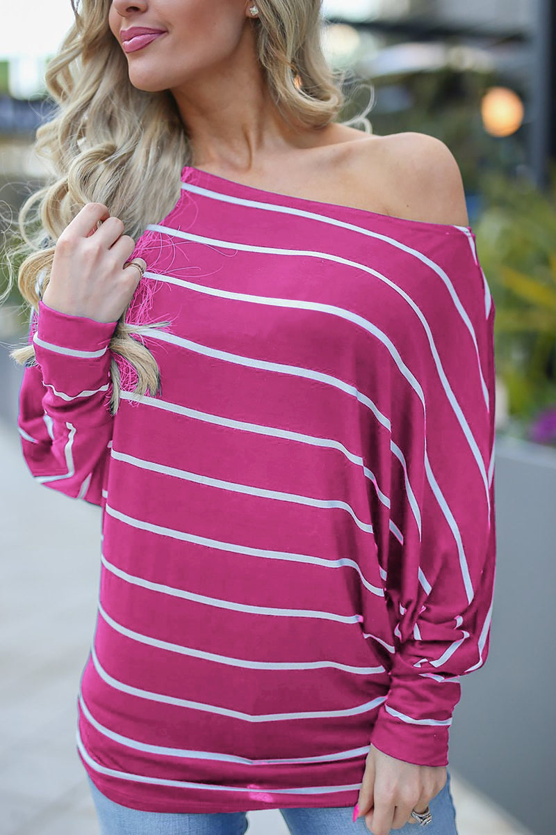 Striped Long Sleeve T-shirt with Long Sleeves