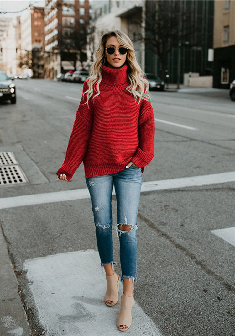 Turtleneck knit Loose Sweater