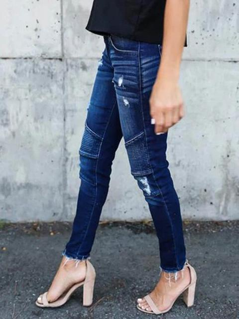 Vintage Ripped Stretch Jeans
