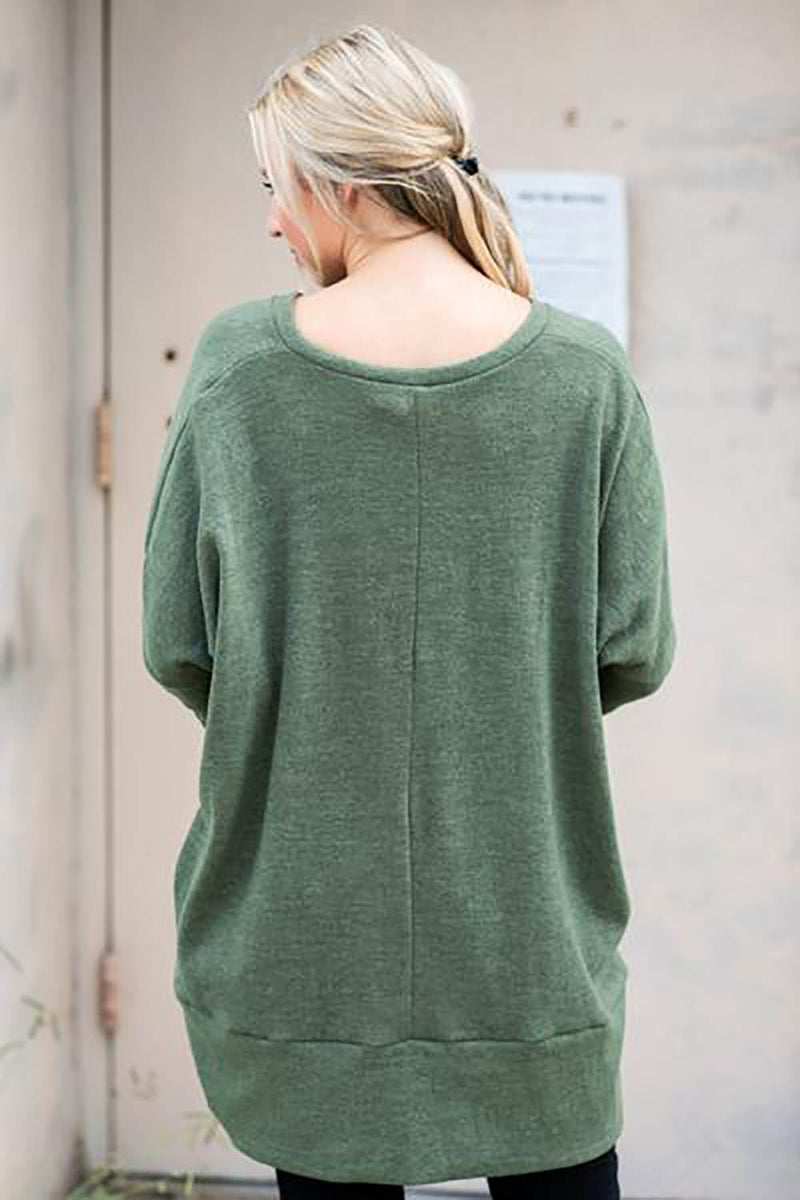 Long Sleeve Casual V-neck Sweater