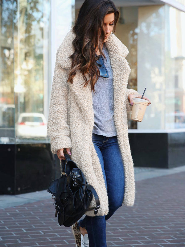 Women Fluffy Long Coat Outwear