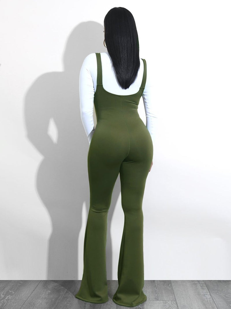 Backless Tight-fitting Bodysuit Jumpsuit - Landing Closet