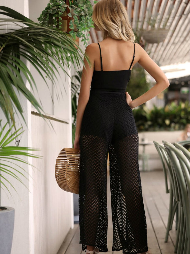 Black Off Shoulder Backless Sleeveless Jumpsuit - Landing Closet