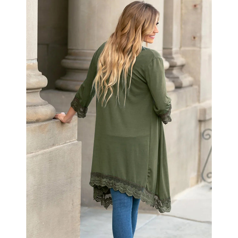 Open Front Short Sleeve Light Cardigan