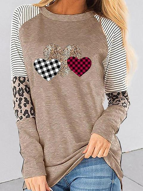 Love Print Long Sleeve Regular T-shirt