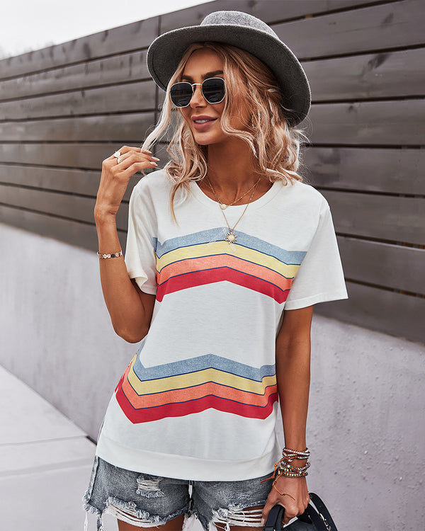 Crew Neck Casual Short Sleeve T-Shirt