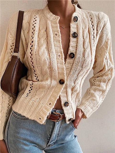 Retro Single Breasted Sweater Coat