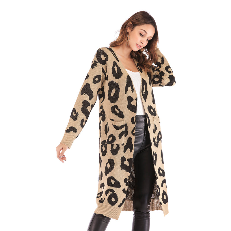 Women's Leopard Print Cardigan Sweater