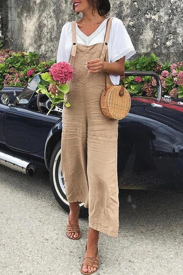 Loose -fit versatile Casual Wide-leg Jumpsuit