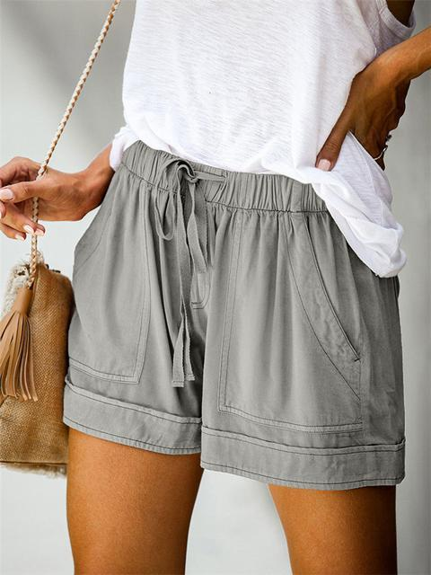 High Waist Lace-Up Shorts