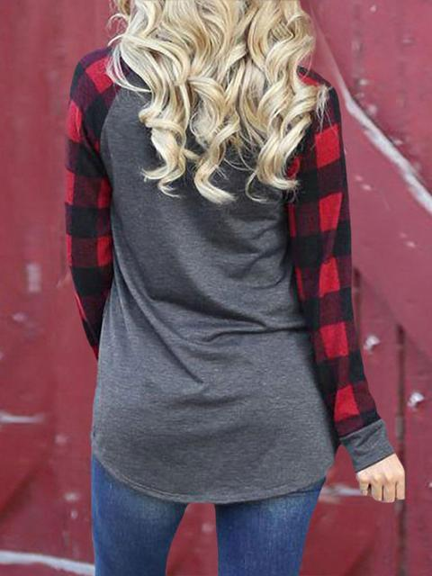 Leopard Plaid Print Christmas T-shirt