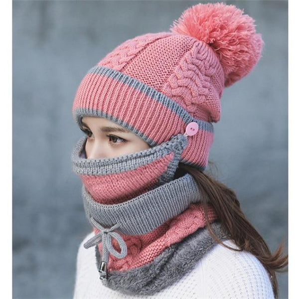 Womens Winter Scarf Set