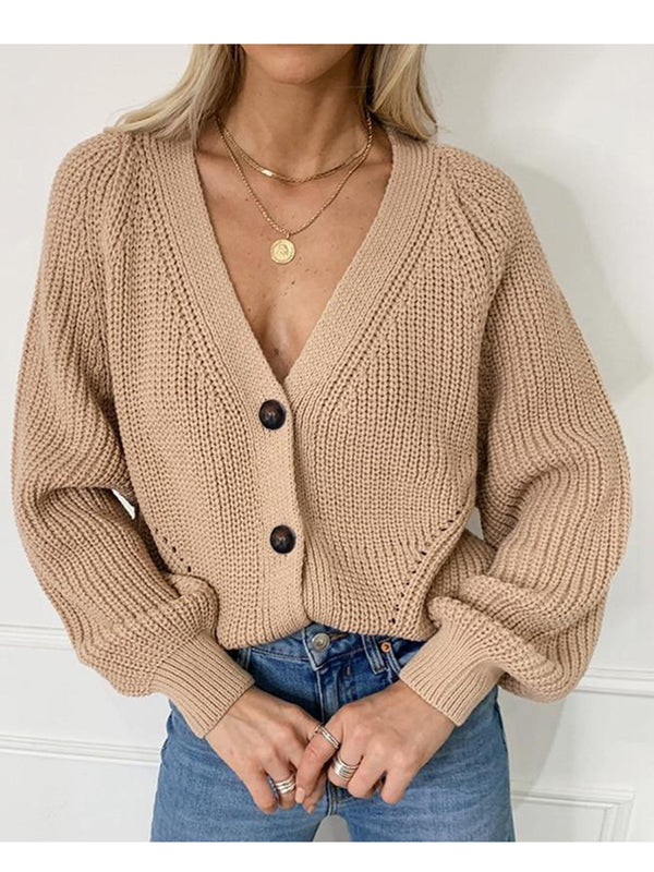 Long Sleeve Knitted Cardigans Sweater