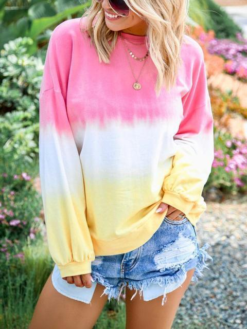 Rainbow Gradient Print Sweatshirt