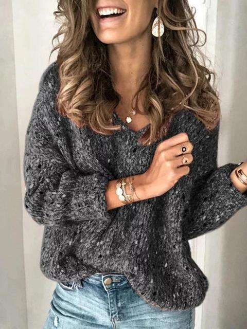 Round Neck Print Short Sweater