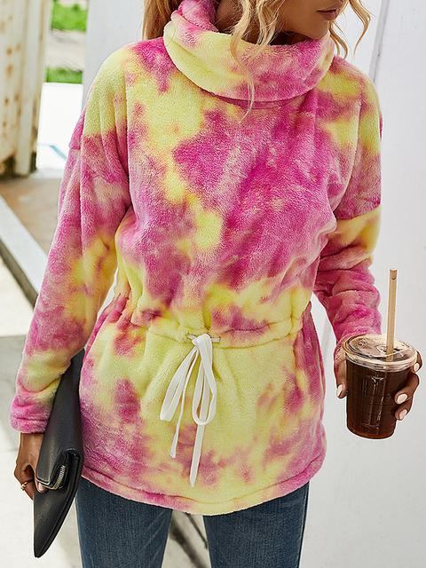 Tie Dye Fleece Sweatshirt Hoodies