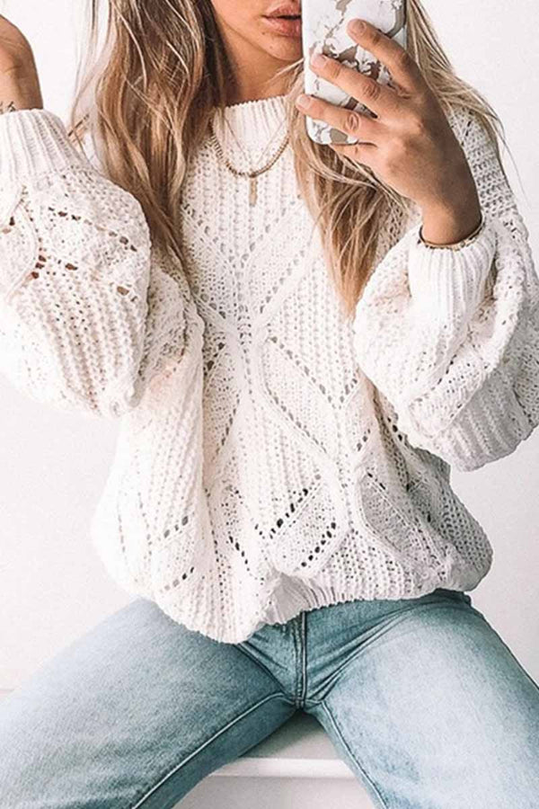 Loose Round Neck Knitted Sweater