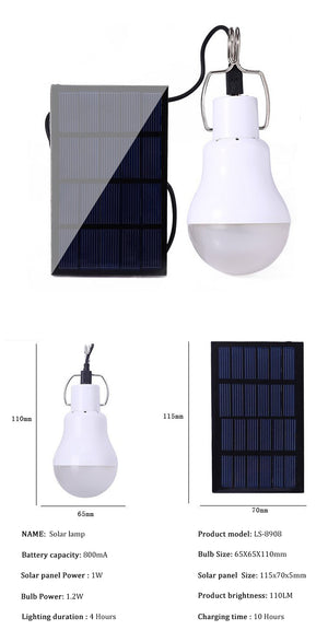 Lampe solaire exterieur a suspendre - Road and Wild