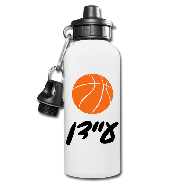 Personalized Water Bottle with Hebrew Name - white