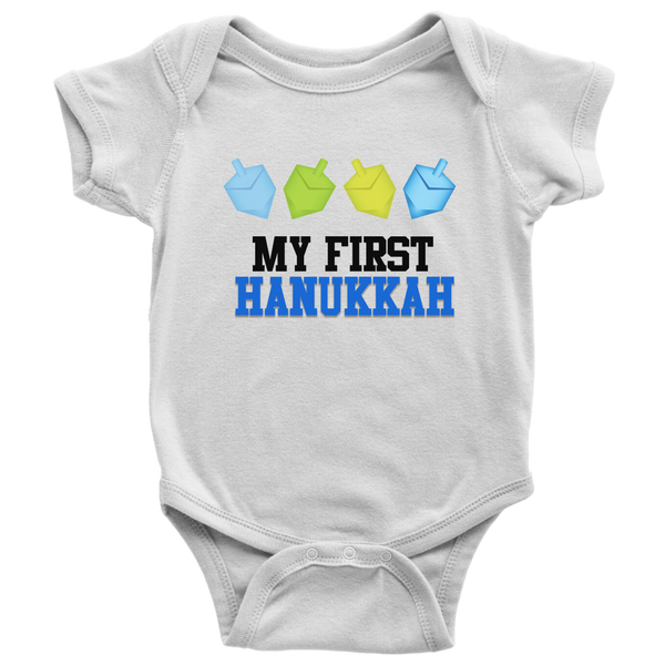 my first hanukkah bodysuit white