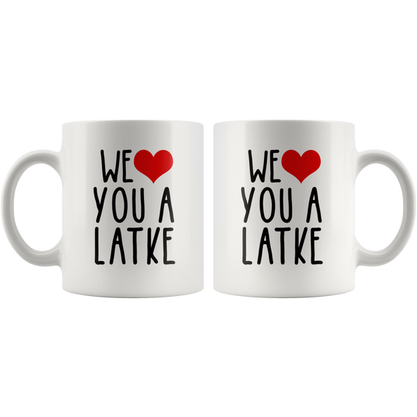 We Heart You  A Latke Gift Mug 2 sizes