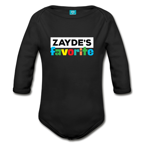 Zayde's Favorite Baby Bodysuit Long Sleeve - black