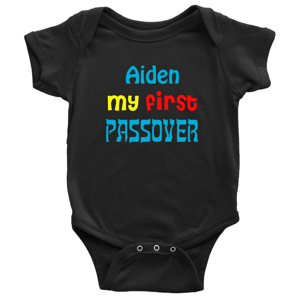 personalized first passover bodysuit