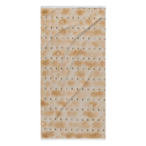 matzoh print beach towel