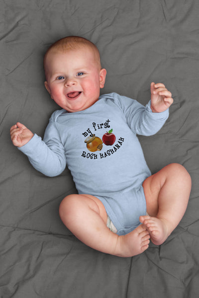 My First Rosh Hashanah Long Sleeve Organic Bodysuit
