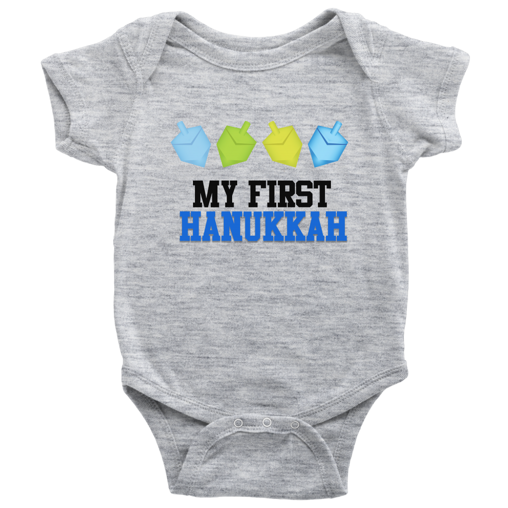 my first hanukkah baby onesie