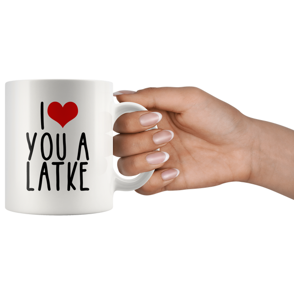 heart you a latke 11 oz