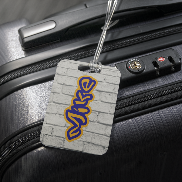 luggage tag with name