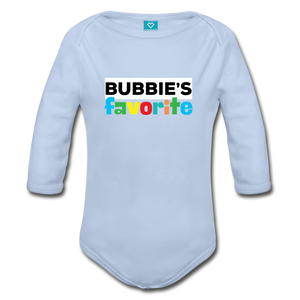 Bubbie's Favorite Organic Cotton Baby Bodysuit - sky