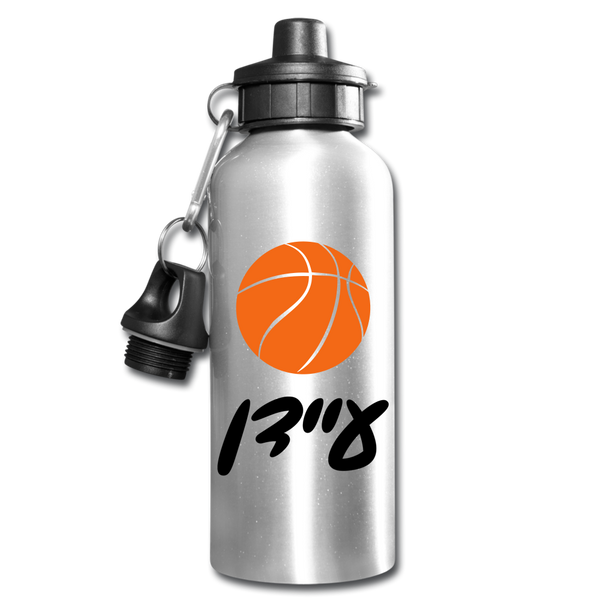 Personalized Water Bottle with Hebrew Name - silver