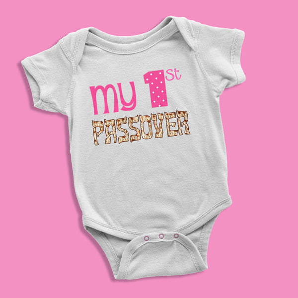 My First Passover Baby Girl Bodysuit