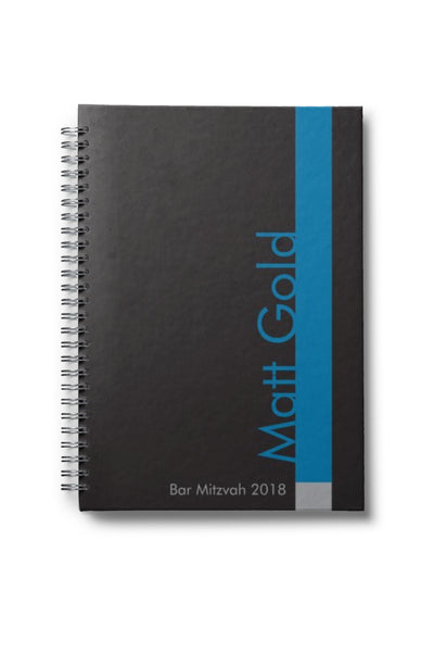 bar mitzvah notebook with name